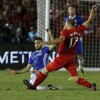 Gary Cahill goal the difference as Cesc Fabregas sees red