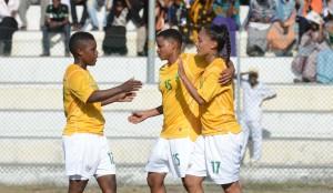 Football - 2014 African Womens Championships 1st Leg - Comoros v South Africa - Stade Said Mohamed Cheik Stadium