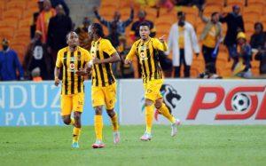 Chiefs celebrating lebese goal